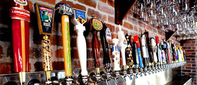 The tap selection at World of Beer. Photo Credit: Facebook.