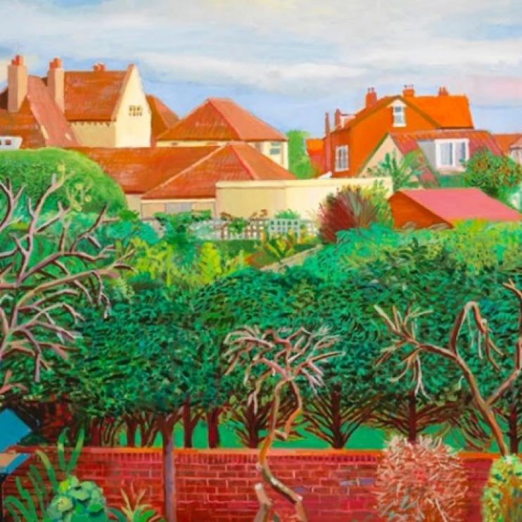Detail from David Hockney, A Bigger Exhibition