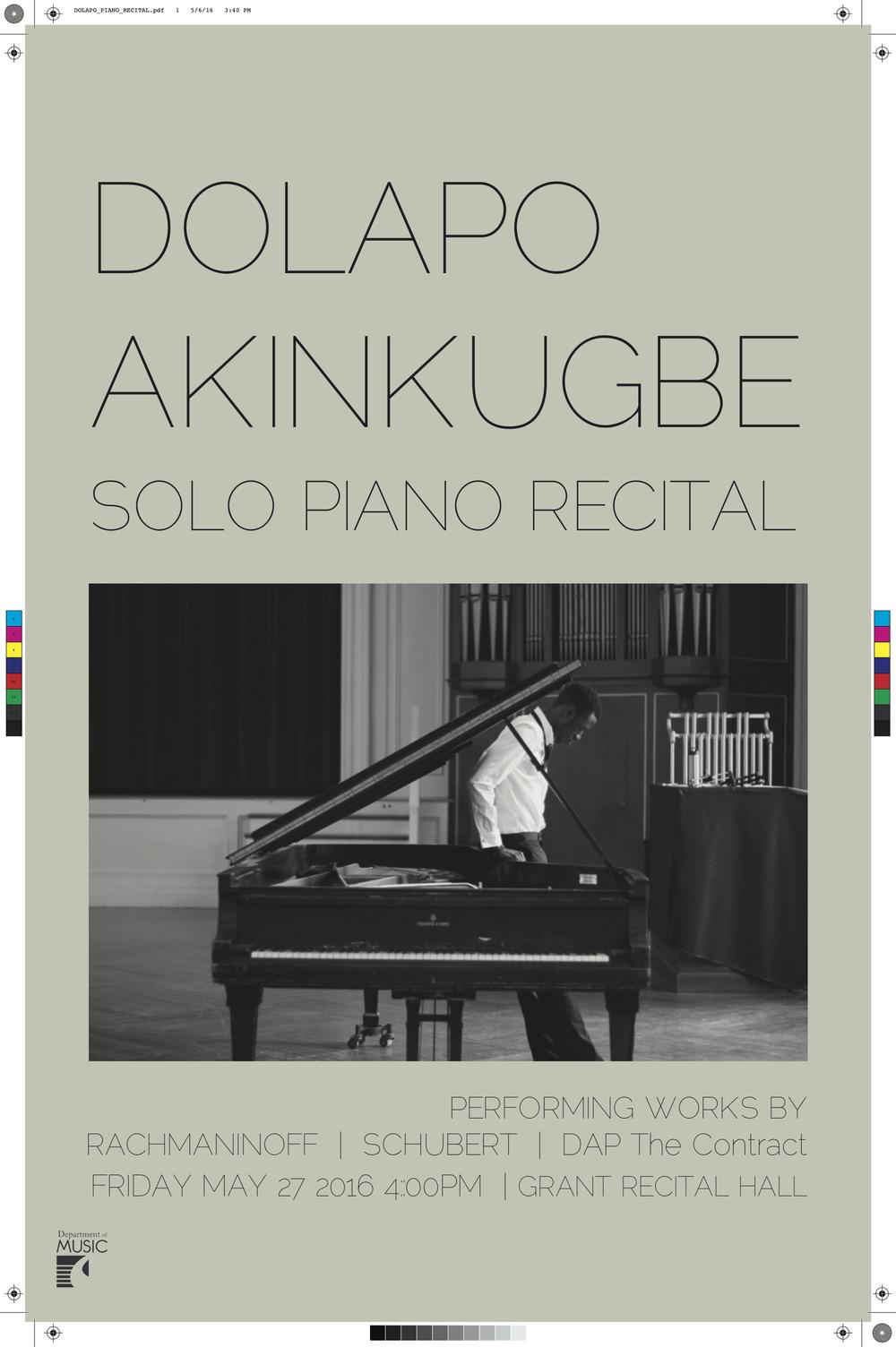 solo piano recital